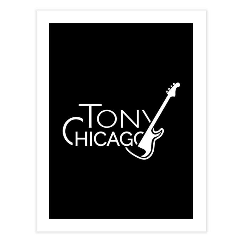 Tony Chicago Russell White Home Fine Art Print by Chicago Music's Apparel and Retail Shop