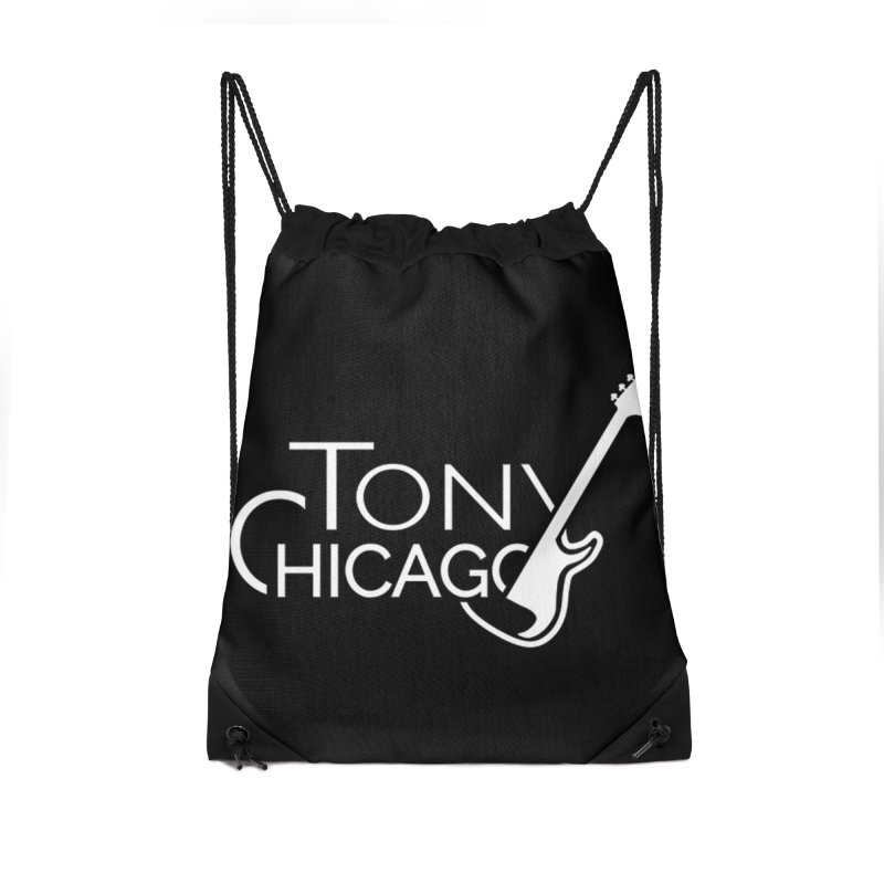 Tony Chicago Russell White Accessories Drawstring Bag Bag by Chicago Music's Apparel and Retail Shop