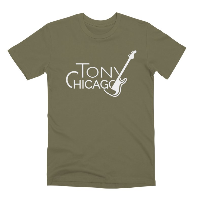 Tony Chicago Russell White Men's Premium T-Shirt by Chicago Music's Apparel and Retail Shop