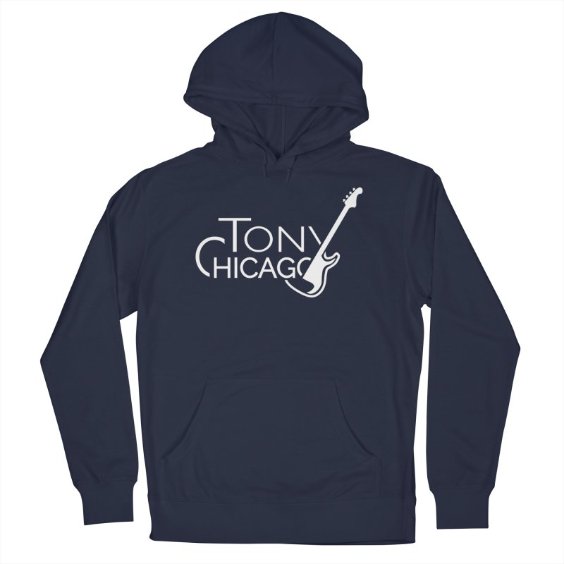 Tony Chicago Russell White Women's French Terry Pullover Hoody by Chicago Music's Apparel and Retail Shop