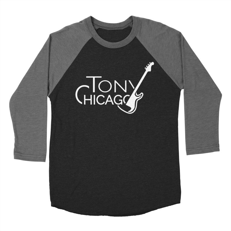 Tony Chicago Russell White Men's Baseball Triblend Longsleeve T-Shirt by Chicago Music's Apparel and Retail Shop