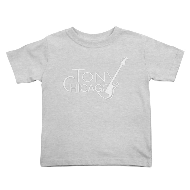 Tony Chicago Russell White Kids Toddler T-Shirt by Chicago Music's Apparel and Retail Shop