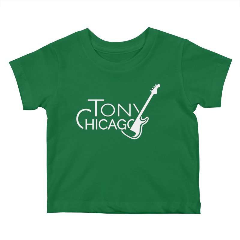 Tony Chicago Russell White Kids Baby T-Shirt by Chicago Music's Apparel and Retail Shop