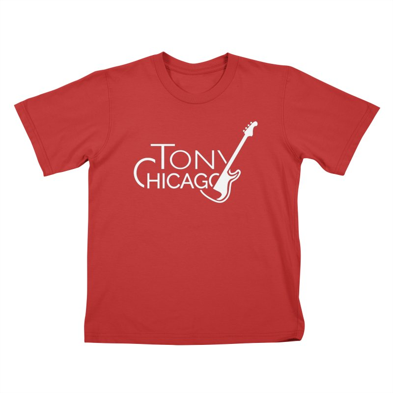 Tony Chicago Russell White Kids T-Shirt by Chicago Music's Apparel and Retail Shop