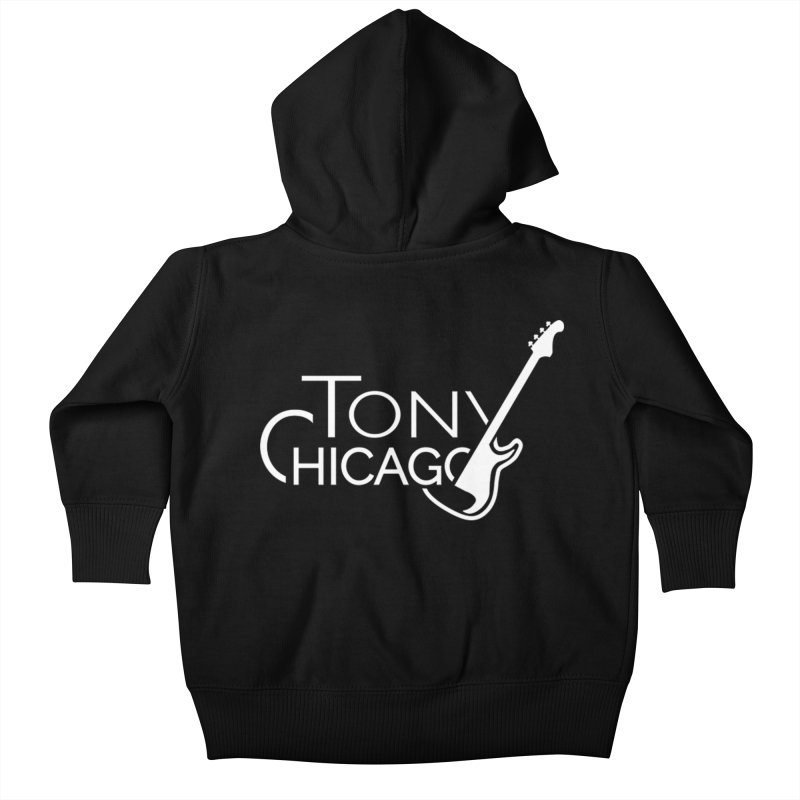 Tony Chicago Russell White Kids Baby Zip-Up Hoody by Chicago Music's Apparel and Retail Shop