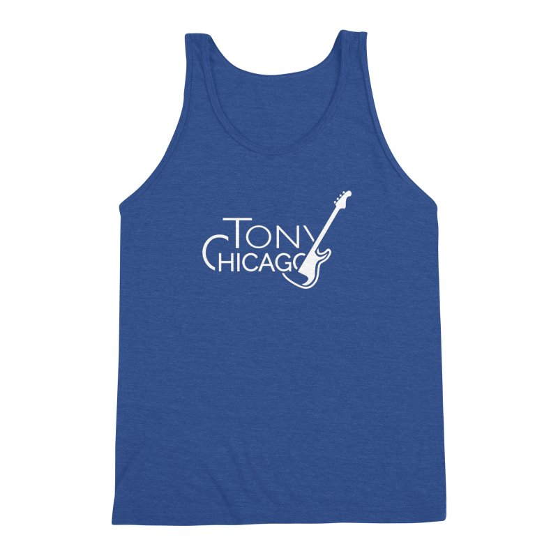Tony Chicago Russell White Men's Triblend Tank by Chicago Music's Apparel and Retail Shop