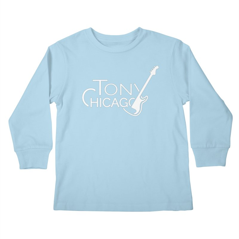 Tony Chicago Russell White Kids Longsleeve T-Shirt by Chicago Music's Apparel and Retail Shop