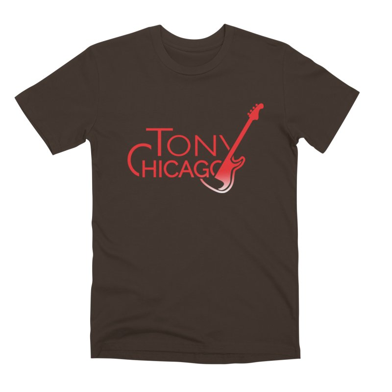 Tony Chicago Russell Red Gradient Men's Premium T-Shirt by Chicago Music's Apparel and Retail Shop