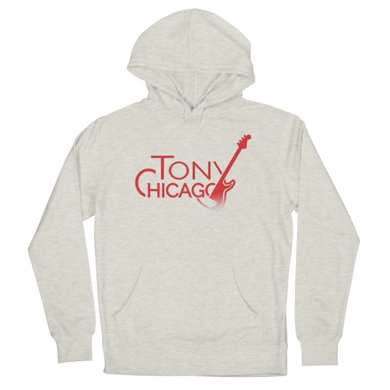 Tony Chicago Russell Red Gradient Women's French Terry Pullover Hoody by Chicago Music's Apparel and Retail Shop