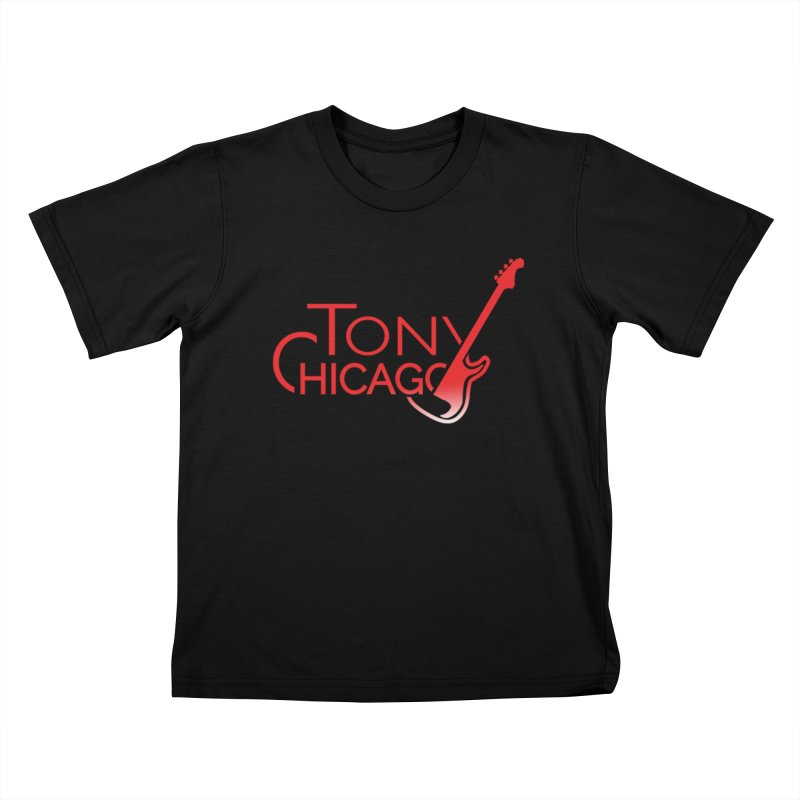 Tony Chicago Russell Red Gradient Kids T-Shirt by Chicago Music's Apparel and Retail Shop