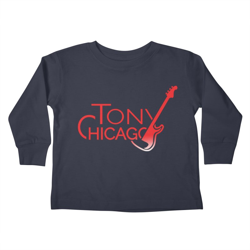 Tony Chicago Russell Red Gradient Kids Toddler Longsleeve T-Shirt by Chicago Music's Apparel and Retail Shop
