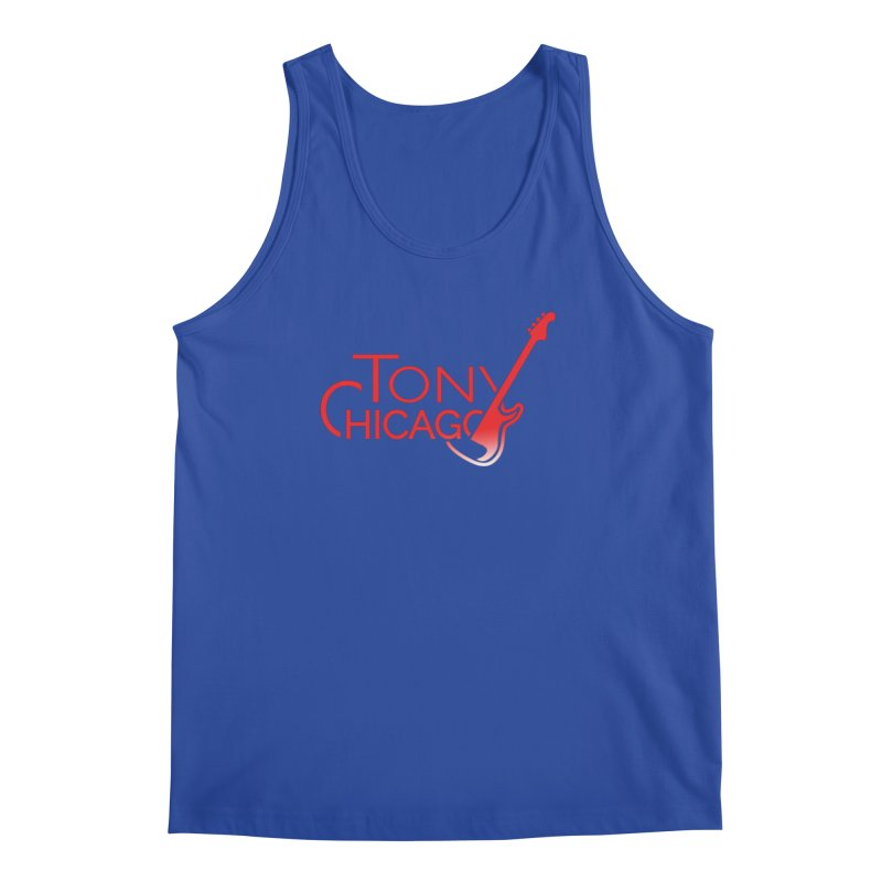 Tony Chicago Russell Red Gradient Men's Regular Tank by Chicago Music's Apparel and Retail Shop