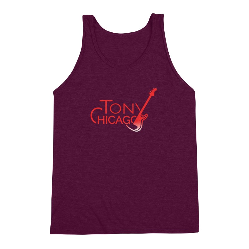 Tony Chicago Russell Red Gradient Men's Triblend Tank by Chicago Music's Apparel and Retail Shop