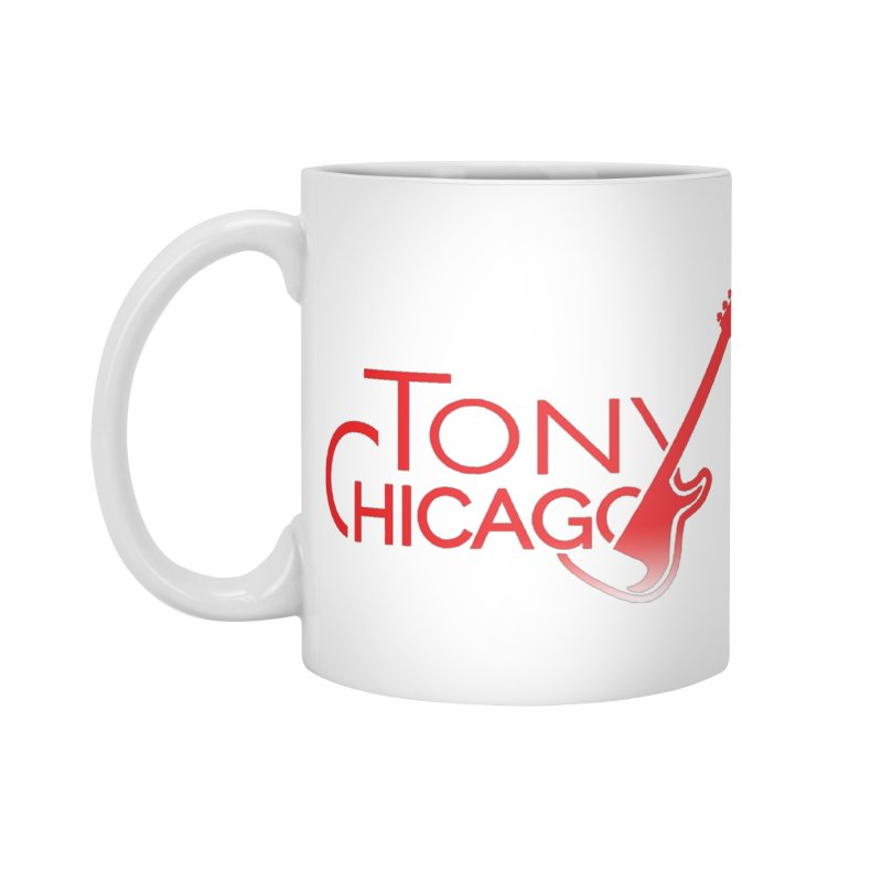 Tony Chicago Russell Red Gradient Accessories Standard Mug by Chicago Music's Apparel and Retail Shop