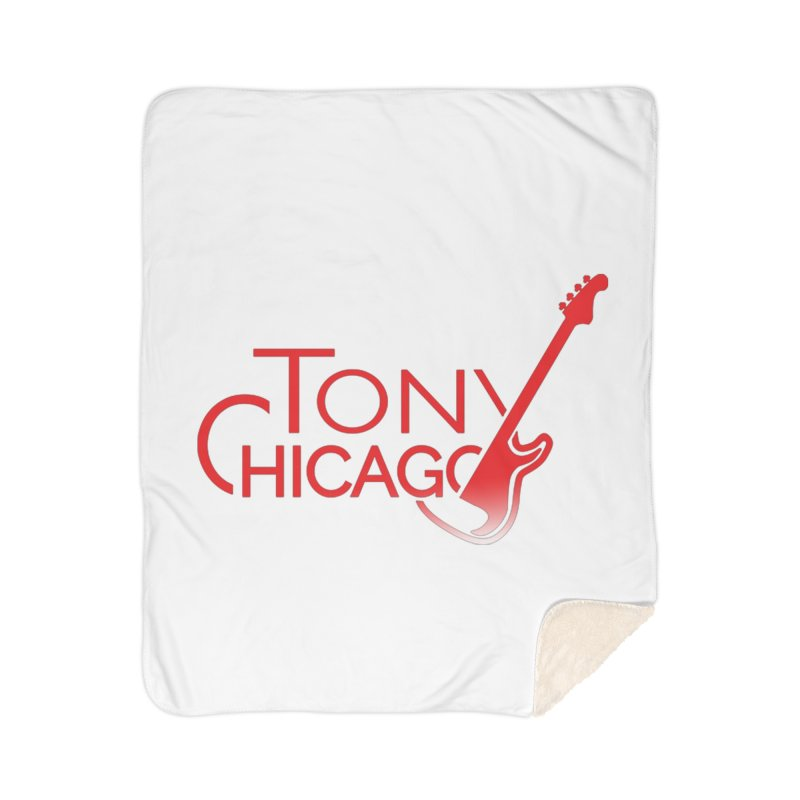 Tony Chicago Russell Red Gradient Home Sherpa Blanket Blanket by Chicago Music's Apparel and Retail Shop