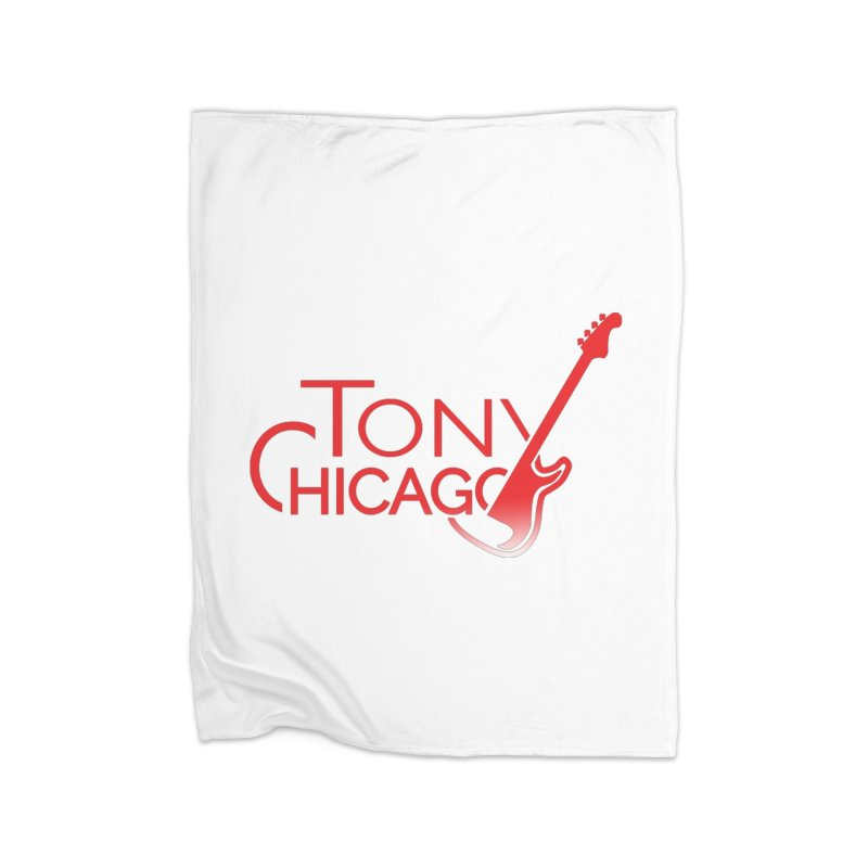 Tony Chicago Russell Red Gradient Home Fleece Blanket Blanket by Chicago Music's Apparel and Retail Shop