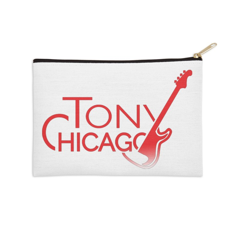 Tony Chicago Russell Red Gradient Accessories Zip Pouch by Chicago Music's Apparel and Retail Shop