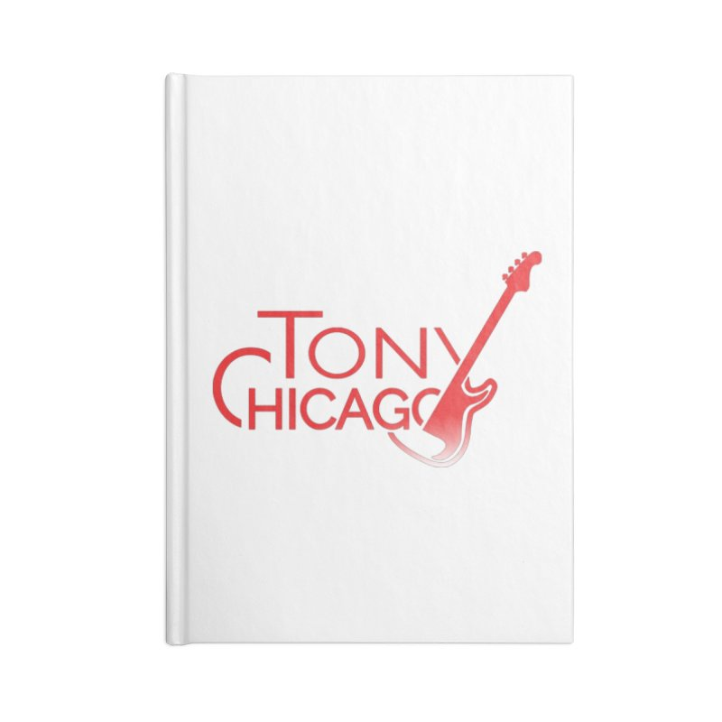Tony Chicago Russell Red Gradient Accessories Blank Journal Notebook by Chicago Music's Apparel and Retail Shop
