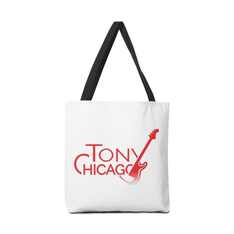 Tony Chicago Russell Red Gradient Accessories Tote Bag Bag by Chicago Music's Apparel and Retail Shop
