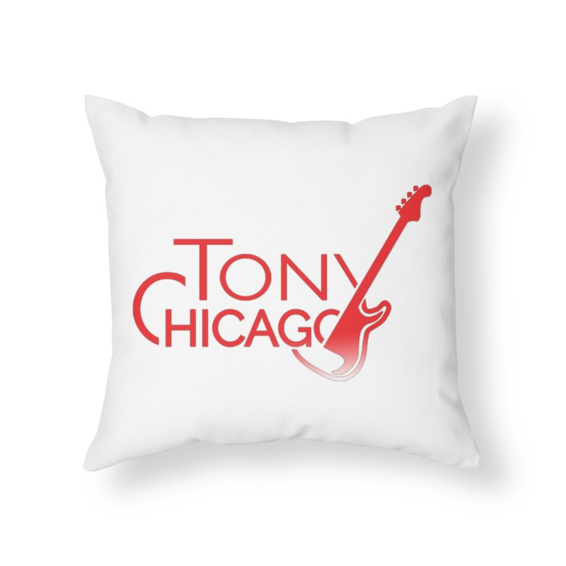 Tony Chicago Russell Red Gradient Home Throw Pillow by Chicago Music's Apparel and Retail Shop