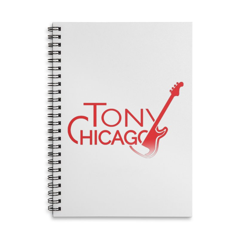 Tony Chicago Russell Red Gradient Accessories Lined Spiral Notebook by Chicago Music's Apparel and Retail Shop