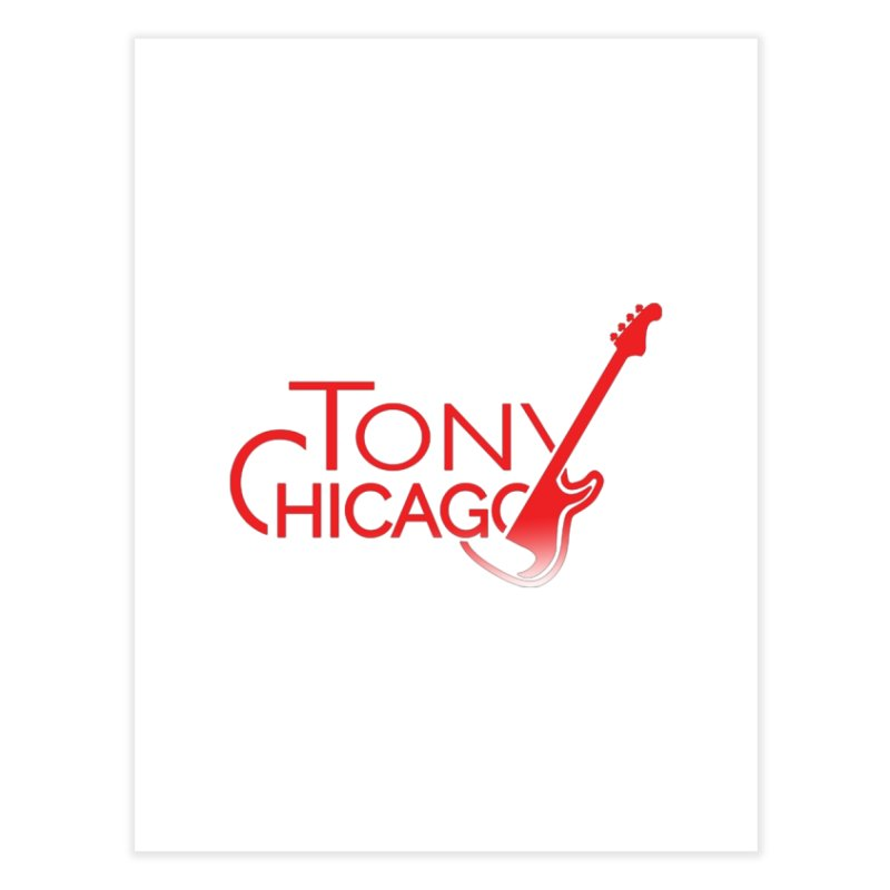 Tony Chicago Russell Red Gradient Home Fine Art Print by Chicago Music's Apparel and Retail Shop