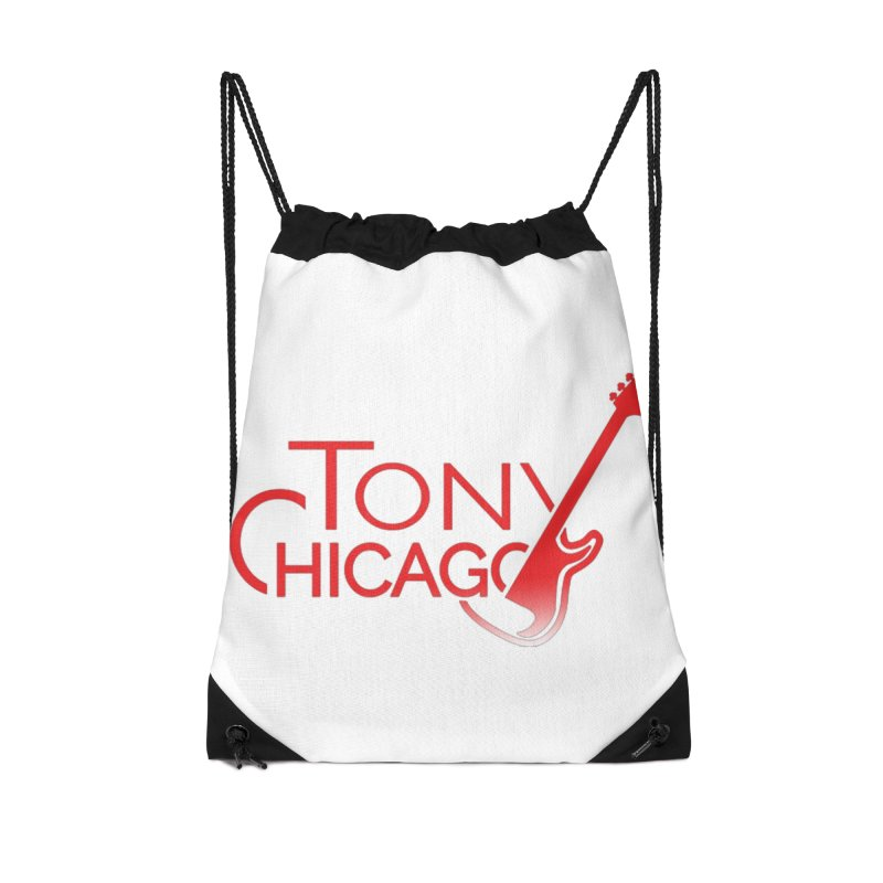 Tony Chicago Russell Red Gradient Accessories Drawstring Bag Bag by Chicago Music's Apparel and Retail Shop