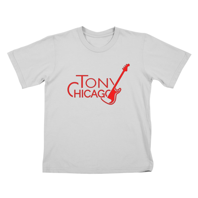 Tony Chicago Russell Red Kids T-Shirt by Chicago Music's Apparel and Retail Shop
