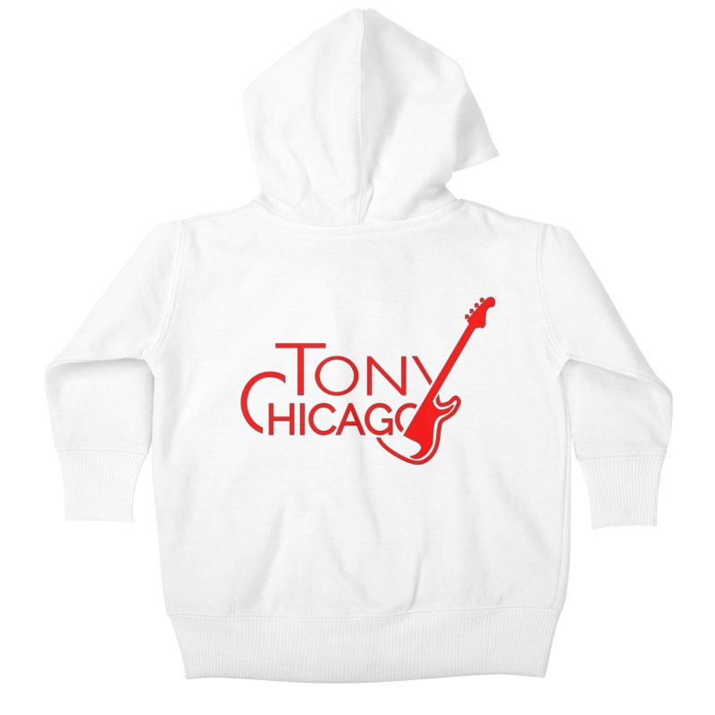 Tony Chicago Russell Red Kids Baby Zip-Up Hoody by Chicago Music's Apparel and Retail Shop