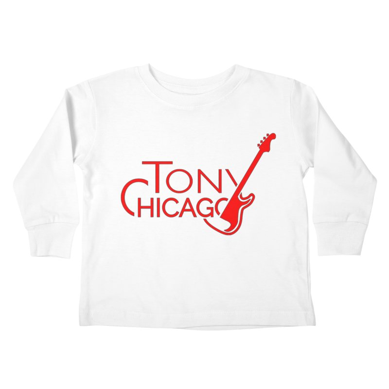 Tony Chicago Russell Red Kids Toddler Longsleeve T-Shirt by Chicago Music's Apparel and Retail Shop
