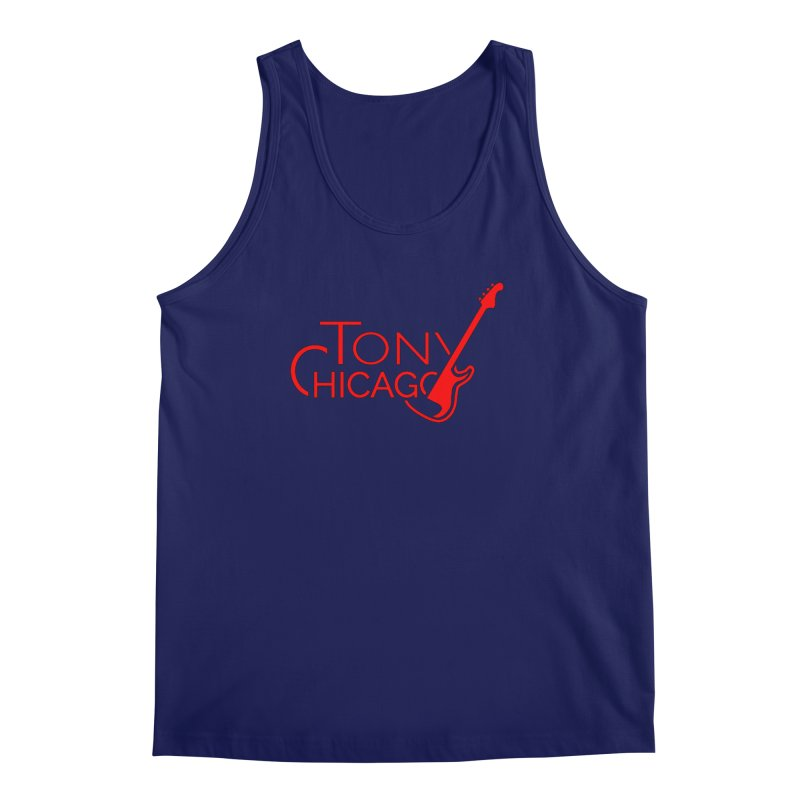 Tony Chicago Russell Red Men's Regular Tank by Chicago Music's Apparel and Retail Shop