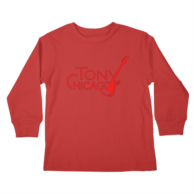 Tony Chicago Russell Red Kids Longsleeve T-Shirt by Chicago Music's Apparel and Retail Shop