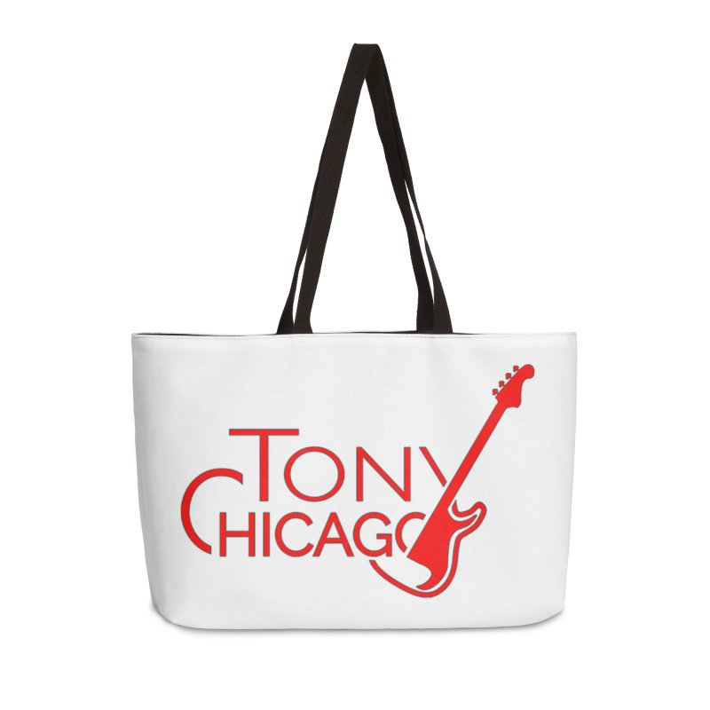 Tony Chicago Russell Red Accessories Weekender Bag Bag by Chicago Music's Apparel and Retail Shop
