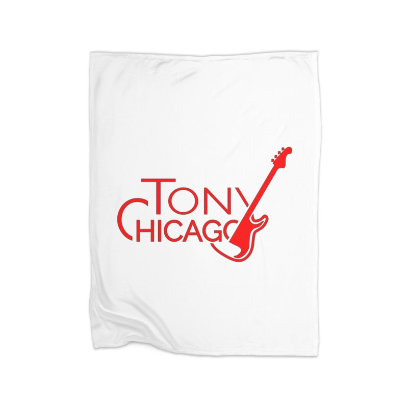 Tony Chicago Russell Red Home Fleece Blanket Blanket by Chicago Music's Apparel and Retail Shop