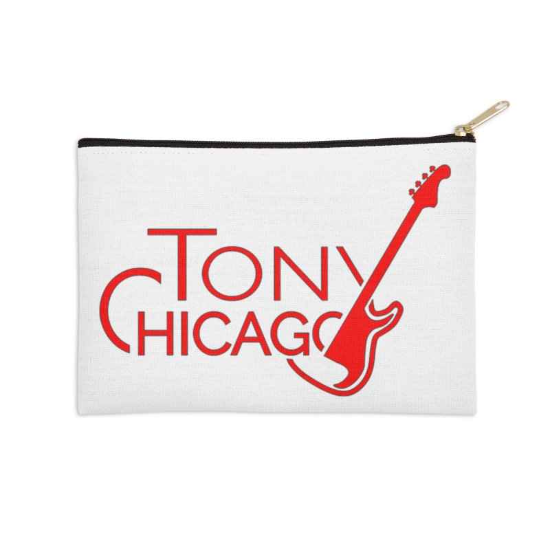 Tony Chicago Russell Red Accessories Zip Pouch by Chicago Music's Apparel and Retail Shop