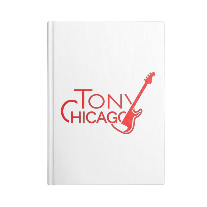Tony Chicago Russell Red Accessories Lined Journal Notebook by Chicago Music's Apparel and Retail Shop