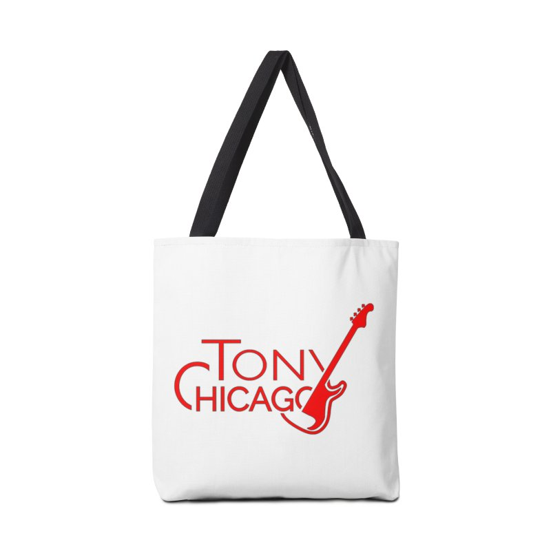 Tony Chicago Russell Red Accessories Tote Bag Bag by Chicago Music's Apparel and Retail Shop