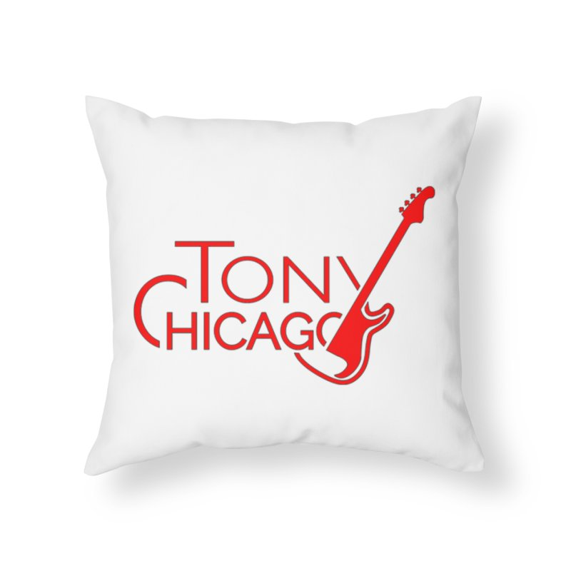 Tony Chicago Russell Red Home Throw Pillow by Chicago Music's Apparel and Retail Shop