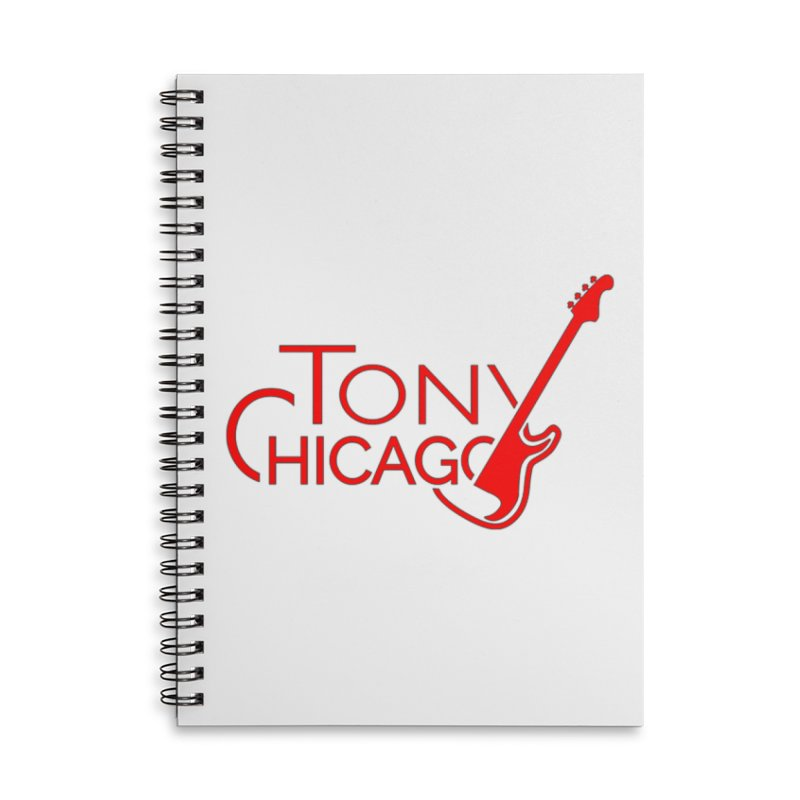 Tony Chicago Russell Red Accessories Lined Spiral Notebook by Chicago Music's Apparel and Retail Shop