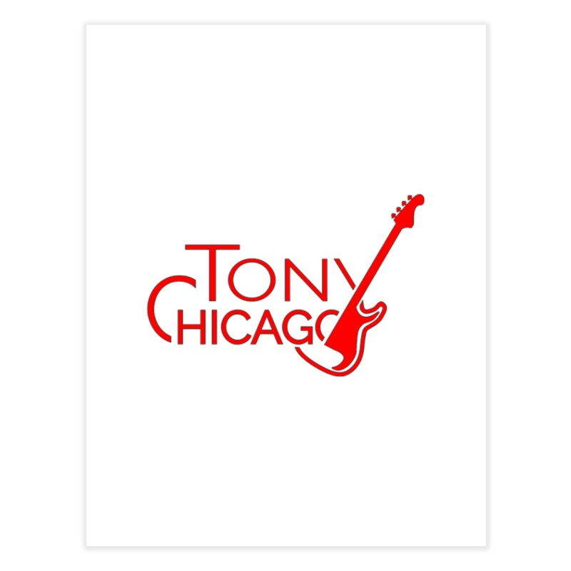 Tony Chicago Russell Red Home Fine Art Print by Chicago Music's Apparel and Retail Shop