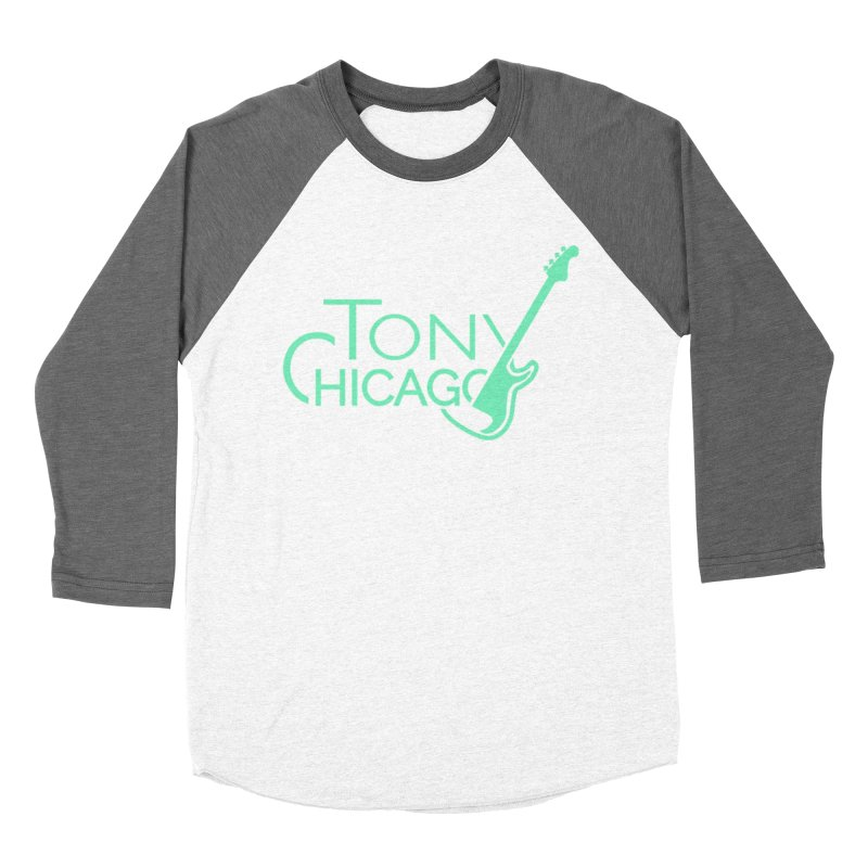 Tony Chicago Russell Sea Foam Green Men's Baseball Triblend Longsleeve T-Shirt by Chicago Music's Apparel and Retail Shop