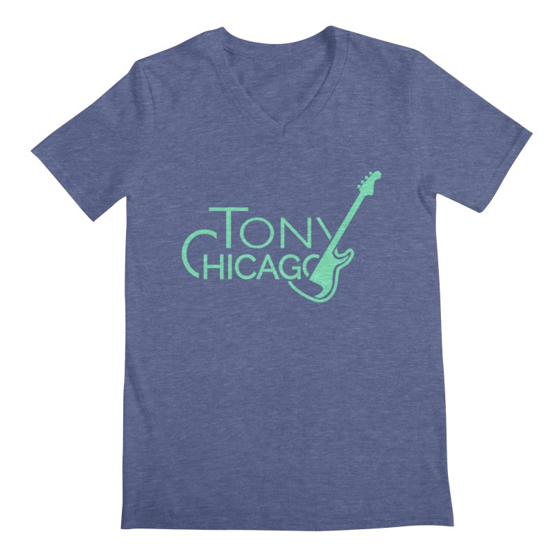 Tony Chicago Russell Sea Foam Green Men's Regular V-Neck by Chicago Music's Apparel and Retail Shop