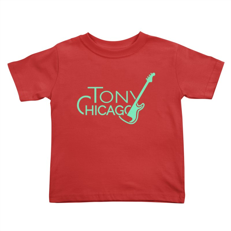 Tony Chicago Russell Sea Foam Green Kids Toddler T-Shirt by Chicago Music's Apparel and Retail Shop