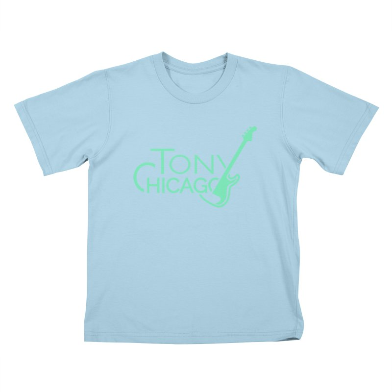Tony Chicago Russell Sea Foam Green Kids T-Shirt by Chicago Music's Apparel and Retail Shop