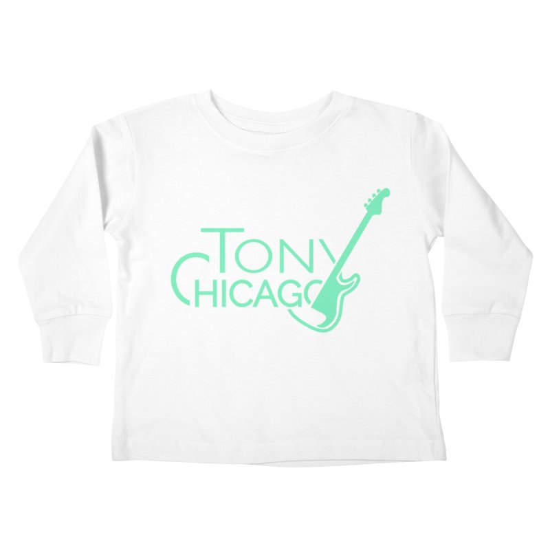 Tony Chicago Russell Sea Foam Green Kids Toddler Longsleeve T-Shirt by Chicago Music's Apparel and Retail Shop