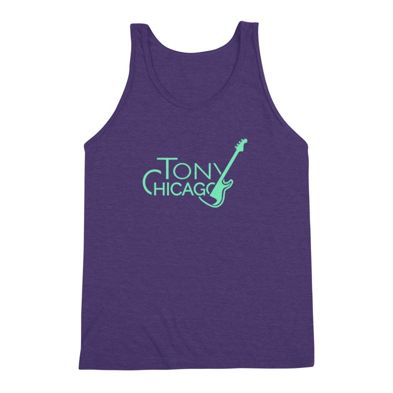 Tony Chicago Russell Sea Foam Green Men's Triblend Tank by Chicago Music's Apparel and Retail Shop