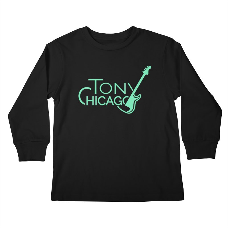 Tony Chicago Russell Sea Foam Green Kids Longsleeve T-Shirt by Chicago Music's Apparel and Retail Shop