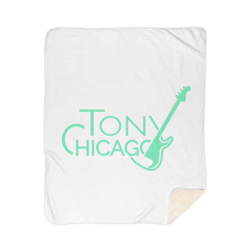 Tony Chicago Russell Sea Foam Green Home Sherpa Blanket Blanket by Chicago Music's Apparel and Retail Shop