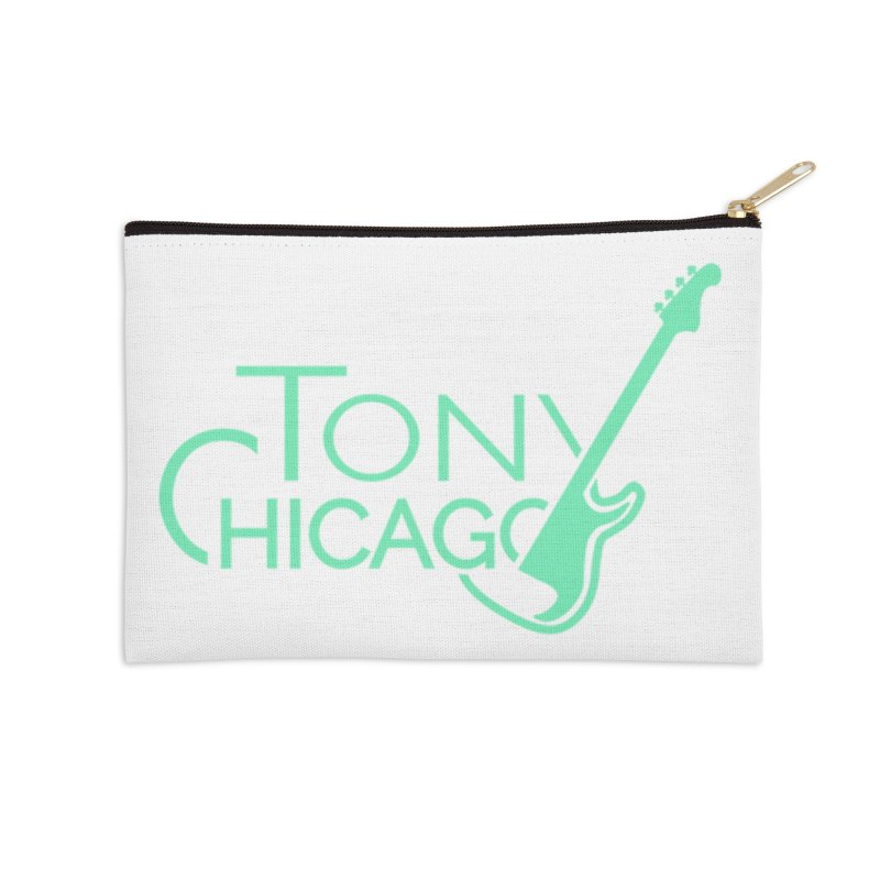 Tony Chicago Russell Sea Foam Green Accessories Zip Pouch by Chicago Music's Apparel and Retail Shop