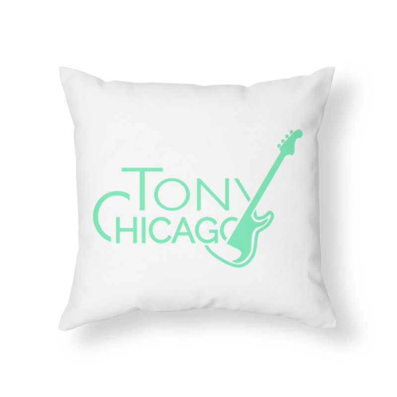 Tony Chicago Russell Sea Foam Green Home Throw Pillow by Chicago Music's Apparel and Retail Shop